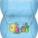 Jesus is Love  Blue ~ Pillow Treat Gift Box