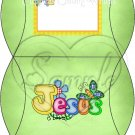Jesus is Love  Green ~ Personalizable  Pillow Treat Gift Box