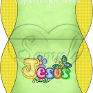 Jesus is Love  Green with Yellow ~ Pillow Treat Gift Box