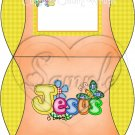 Jesus is Love  Orange with Yellow ~ Personalizable Pillow Treat Gift Box