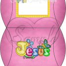 Jesus is Love Pink ~ Personalizable  Pillow Treat Gift Box