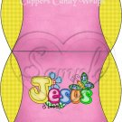 Jesus is Love Pink with Yellow ~ Pillow Treat Gift Box