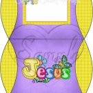 Jesus is Love Purple with Yellow ~ Personalizable Pillow Treat Gift Box