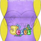 Jesus is Love Purple with Yellow ~ Pillow Treat Gift Box
