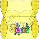 Jesus is Love Yellow with Dark Yellow ~ Pillow Treat Gift Box