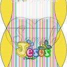 Jesus is Love Stripe ~ Personalizable  Pillow Treat Gift Box