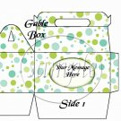 Olive Green & Teal Polka Dots ~ Gable Gift or Snack Box
