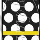 Bumble Bee Black & White Polka Dot #3 ~ MINI Matchbook Nail File COVER ONLY