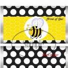 Bumble Bee Black & White Polka Dot #3 ~ Standard 1.55 oz Candy Bar Wrapper  SOE