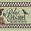 Relax & Restore, Take Time for You  ~ Water Bottle Wrapper ~ Set of 12