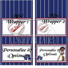 AA Li'l Slugger Baseball  ~ MINI Candy Bar Wrappers