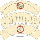 All About Daisies ~ Cupcake Wrapper ~ Set of 1 Dozen