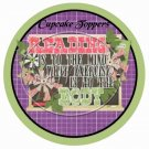 Reading Is To The Mind.....Purple ~ Cupcake Toppers ~ Set of 1 Dozen
