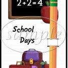 Back To School #1 ~ Pencil, Sucker Lollipop Greeting Card