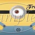 1 Eye Boy Minion Minions Faux or Inspired By  ~ Pint Glass Jar
