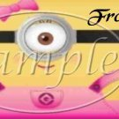 1 Eye Girl Minion Minions Pockets Faux or Inspired By  ~Quart Glass Jar