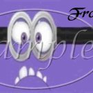 2 Eyes Evil Purple Minion Minions Faux or Inspired By  ~ Pint Glass Jar