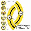 Minion Minions ~ Faux or Inspired By  ~ Cupcake Topper & Wrapper Set ~ Set of 1 Dozen