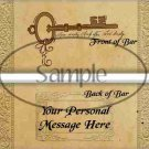 Life's Key Personalize it ~ Standard 1.55 oz Candy Bar Wrapper  SOE
