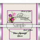 May God Shower You With Blessings Enchanted Tulips  #1 ~ Standard 1.55 oz Candy Bar Wrapper  SOE