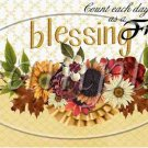 Count Each Day As A Blessing  ~ Quart Glass Jar