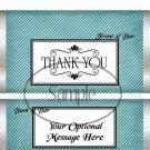 Aqua Stripe Thank You ~ Standard 1.55 oz Candy Bar Wrapper  SOE