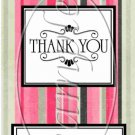 Pink  Stripe Thank You ~ MINI Candy Bar Wrappers