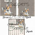 Medical Mouse with Health Tips ~ 12 Month CD Case Calendar 2017