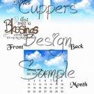 Blue Skies Blessings ~ 12 Month CD Case Calendar 2017