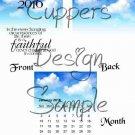 Blue Skies Faithful God ~ 12 Month CD Case Calendar 2017