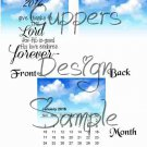 Blue Skies Give Thanks to the Lord ~ 12 Month CD Case Calendar 2017