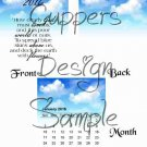 Blue Skies Give How Dearly God Loves Us ~ 12 Month CD Case Calendar 2017