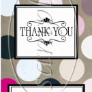Tan Background Black & Pink Polka Dots Thank You ~ MINI Candy Bar Wrappers
