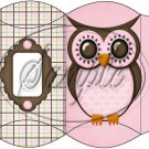 Who Wants a Treat Owl Pink  Personalize It ~ Pillow Treat Gift Box