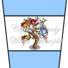 Coffee Tree Blue ~  Gift Card Holder Latte` Cup