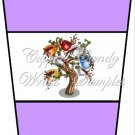 Coffee Tree Purple ~  Gift Card Holder Latte` Cup