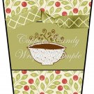 Holly Christmas ~  Gift Card Holder Latte` Cup