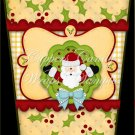 Santa & Holly ~  Gift Card Holder Latte` Cup
