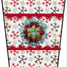 Happy Hoildays Snowflakes ~  Gift Card Holder Latte` Cup