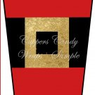Santa's Belt ~  Gift Card Holder Latte` Cup
