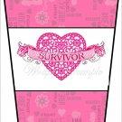 Cancer Survivor ~  Gift Card Holder Latte` Cup
