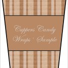 Brown & Tan Stripes ~  Gift Card Holder Latte` Cup