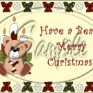 "Beary Merry Christmas ~ Horizontal ~ 6"" X 8"" Foil Pan Lid Cover"