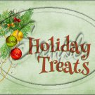 "Holiday Treats Ornaments Green  ~ Horizontal ~ 6"" X 8"" Foil Pan Lid Cover"