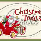 "Christmas Treats Santa Tan  ~ Horizontal ~ 6"" X 8"" Foil Pan Lid Cover"