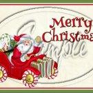 "Merry Christmas Santa Tan  ~ Horizontal ~ 6"" X 8"" Foil Pan Lid Cover"