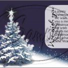 """Wishing You a Merry Christmas Blue ~ Horziontal ~ 6"""" X 8"""" Foil Pan Lid Cover"""