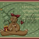"Christmas Gingerbread Cookie  ~ Horziontal ~ 6"" X 8"" Foil Pan Lid Cover"