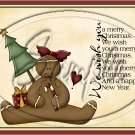 """Wishing You a Merry Christmas Gingerbread Cookie  ~ Horziontal ~ 6"""" X 8"""" Foil Pan Lid Cover"""