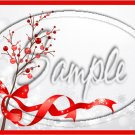 "Christmas Berries Personalize it! ~ Horizontal  ~ 6"" X 8"" Foil Pan Lid Cover"